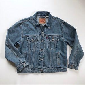 Levi's Women's Blue Denim Jean Jacket Size XL